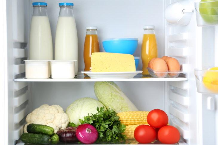 Organized Fridge fridge open