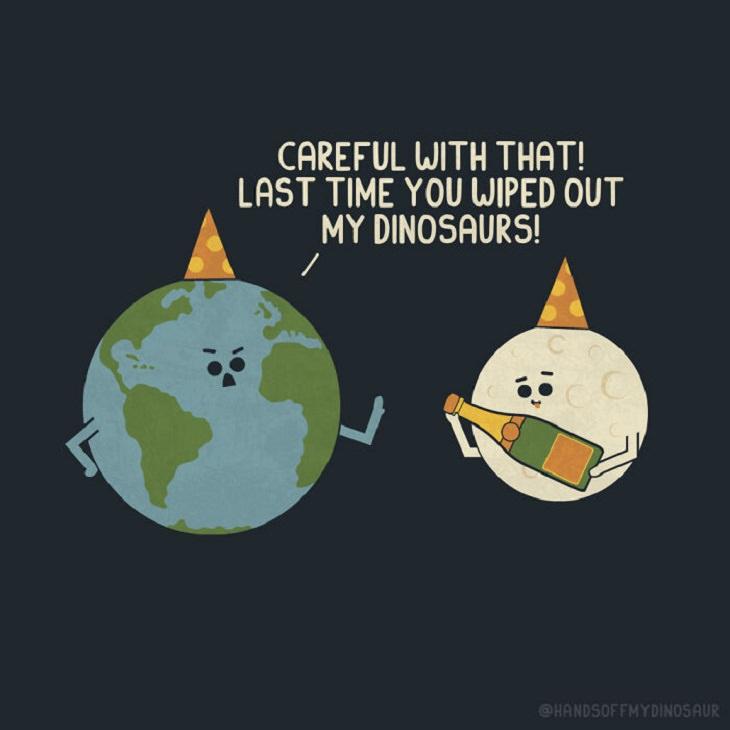 Funny Solar System Comics, dinosaur
