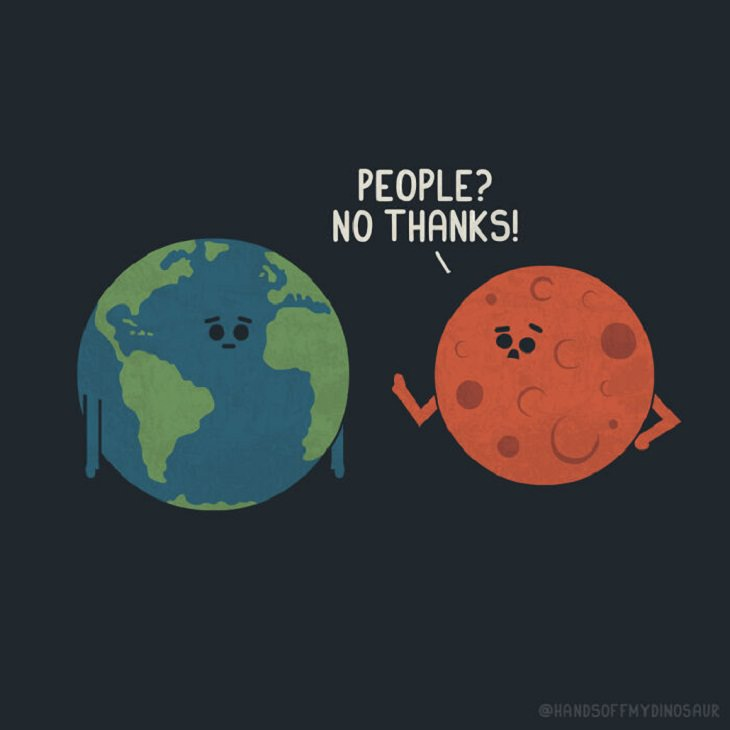 Funny Solar System Comics, Mars