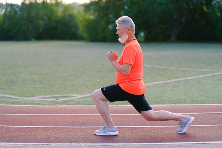 Balance Exercises active elderly man