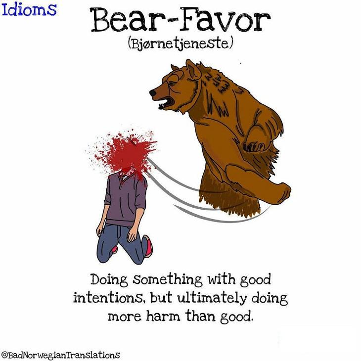 Norwegian Idioms, Bear