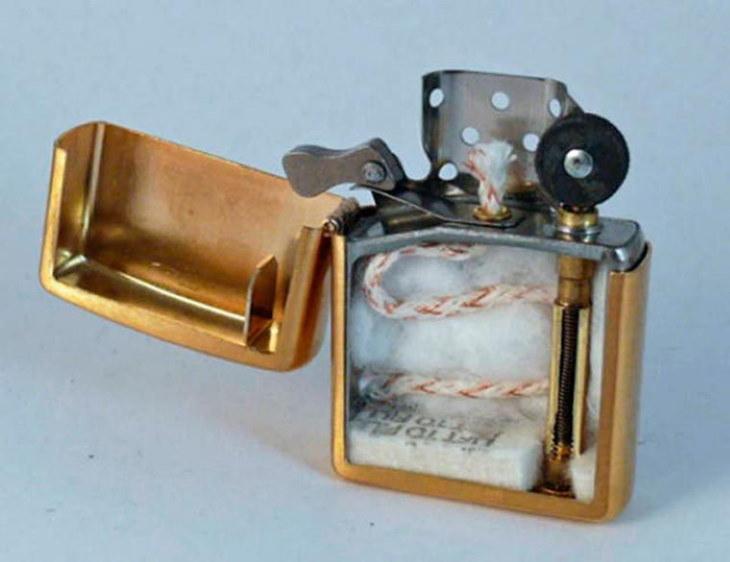 Cross Sections vintageZippo lighter