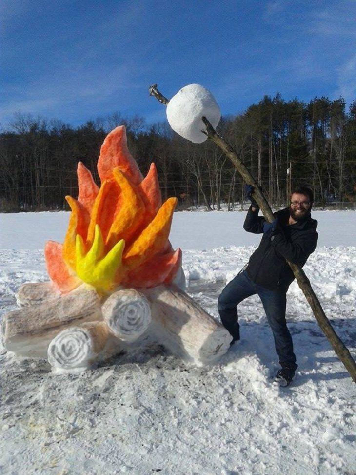 Snow Sculptures, Marshmallow