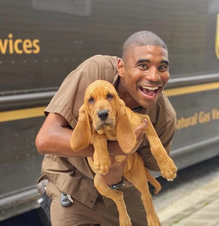 UPS Driver Documents Every Cute Pet He Meets dog