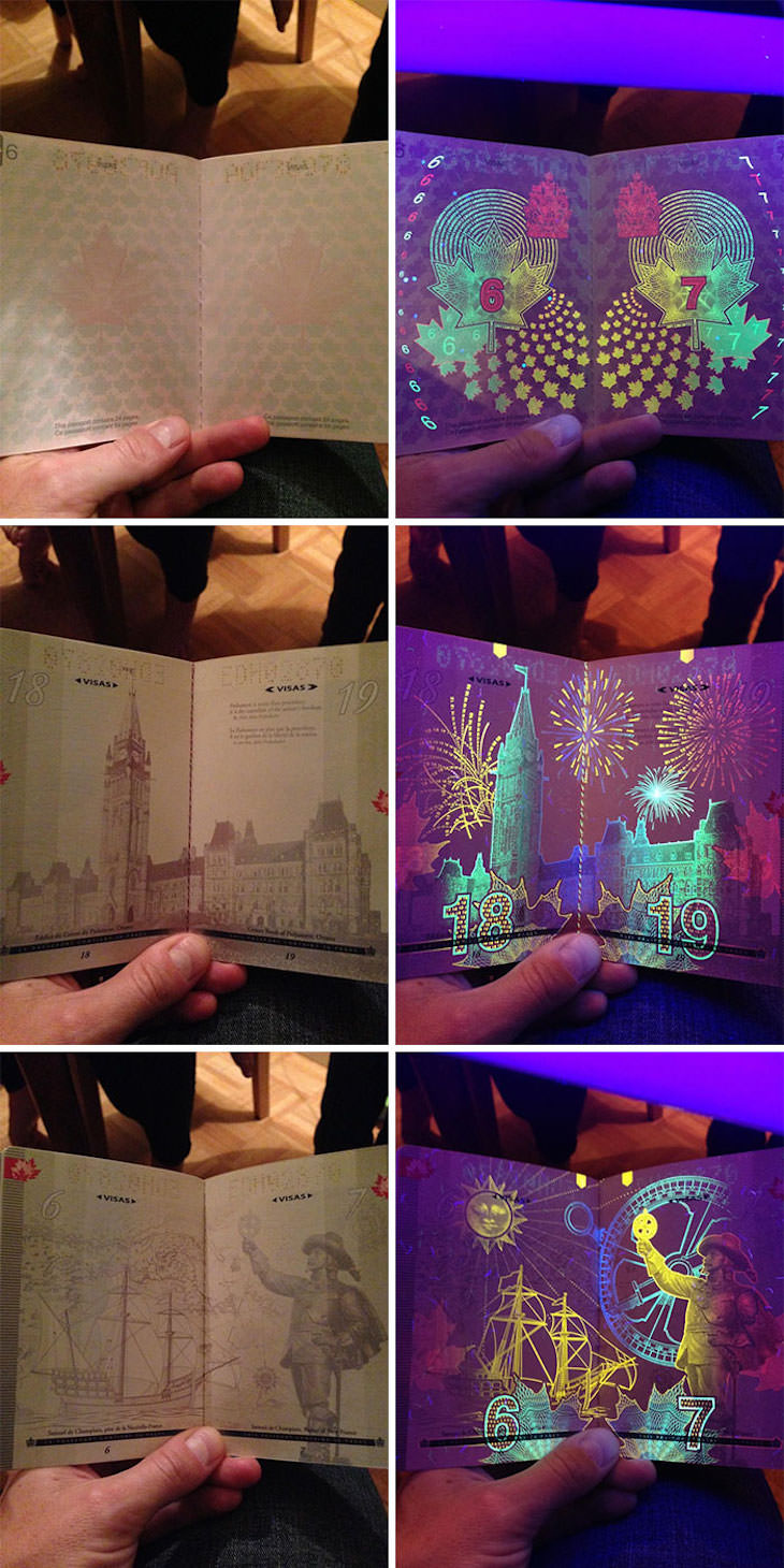 Cool Hidden Details Found in Everyday Objects Canadian passport