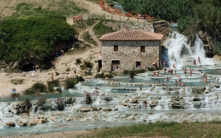 Beautiful Hot Springs Terme di Saturnia, Italy