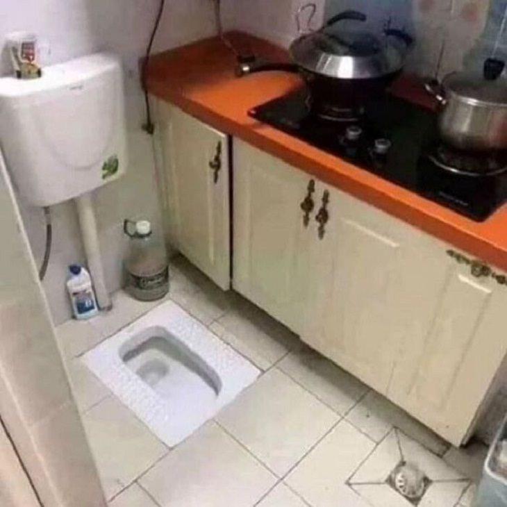 Interior Design Fails, bathroom/kitchen