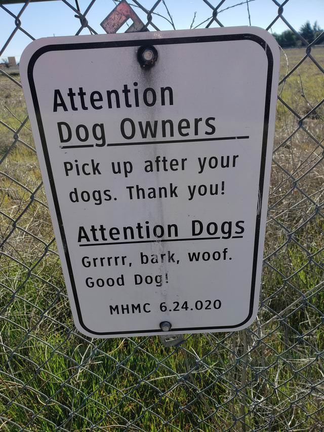 Funny Signs dog sign