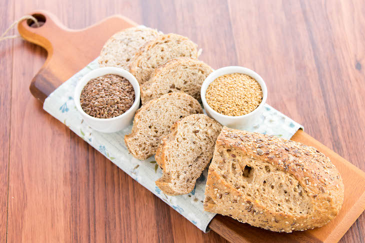 The Benefit of Counting Net Carbs & How To Do It, whole grain bread
