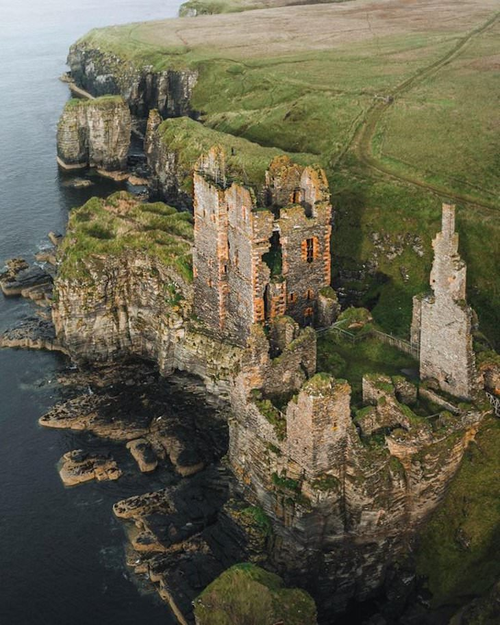 Beautiful Abandoned Structures Reclaimed by Nature, Castle In Scotland