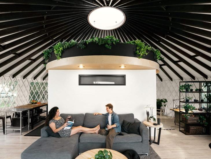 Tiny Homes Yurt Living Room