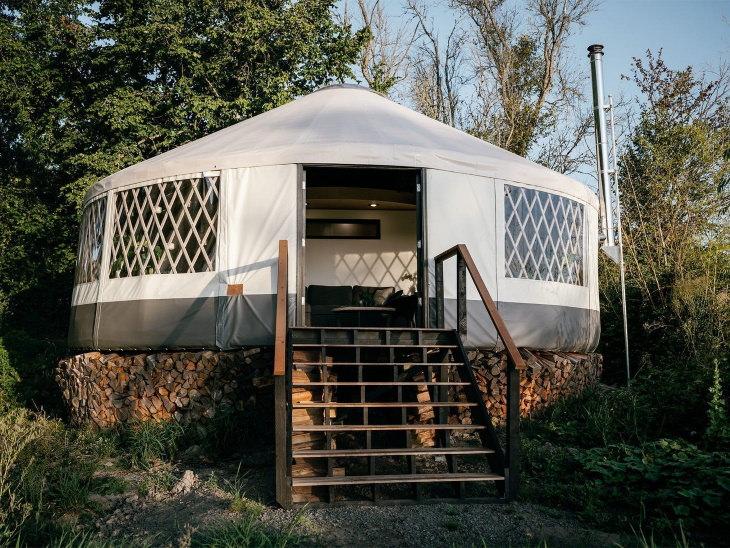 Tiny Homes Yurt Outside