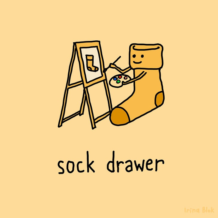 Illustrated Puns,drawer