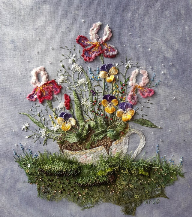 3D Embroideries by Rosa Andreeva