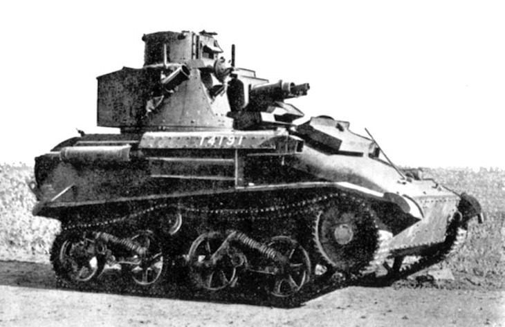 10 Significant Tanks Used in World War II, Vickers Light Tank