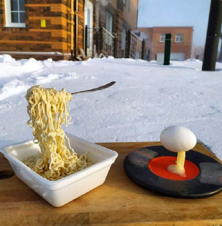 Winter Season Russia, breakfast