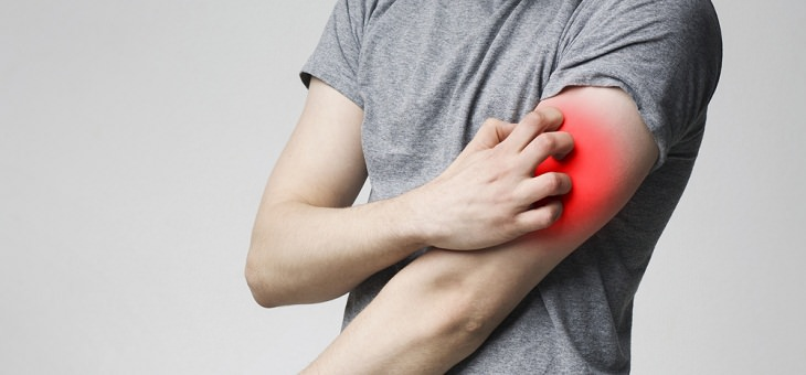 Home Remedies For Itching,  man itching arm