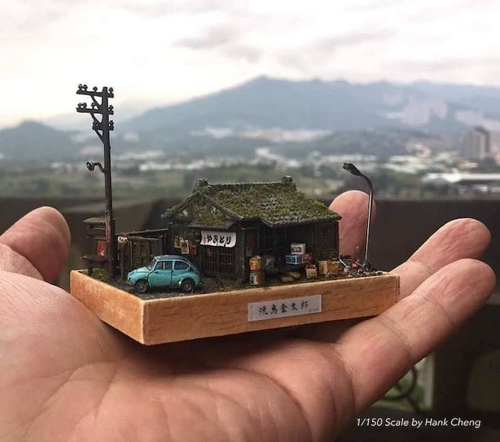 Beautifully Detailed Dioramas by Hank Cheng, house
