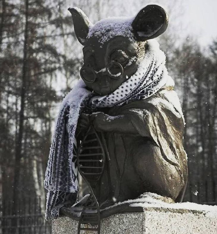 Facts about Countries, statue, mouse
