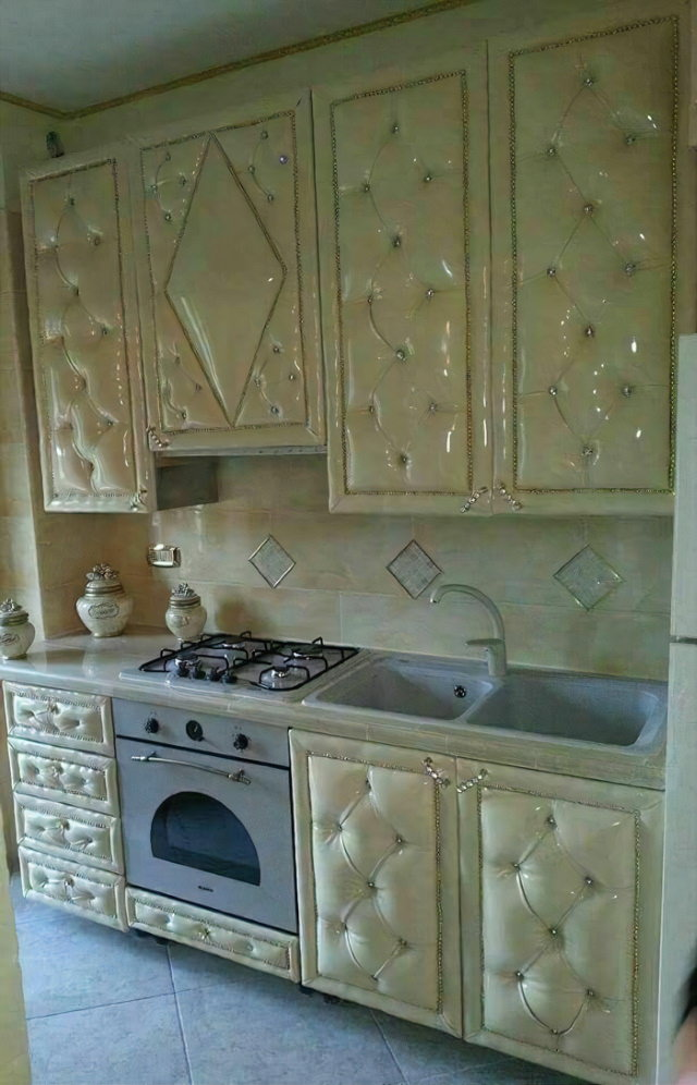 Interior Design Fails kitchen that looks like a sofa