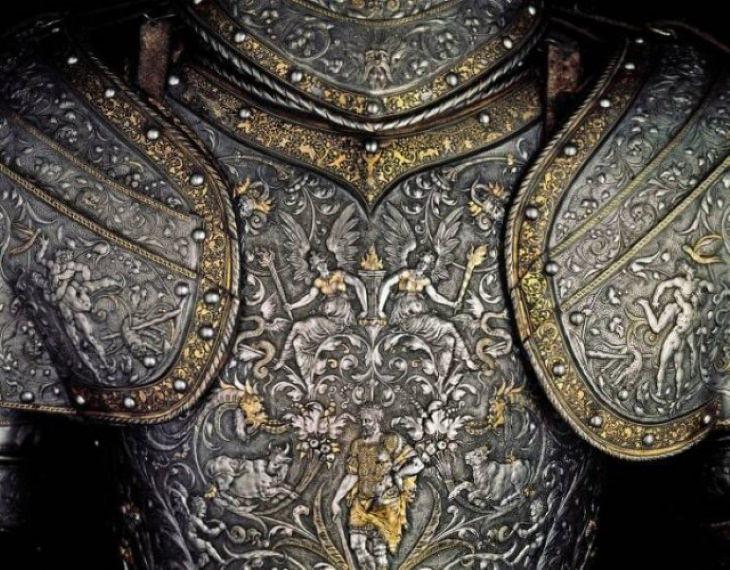 Historical Artifacts Hercules armor ofEmperor Maximilian II of Austria (1555)