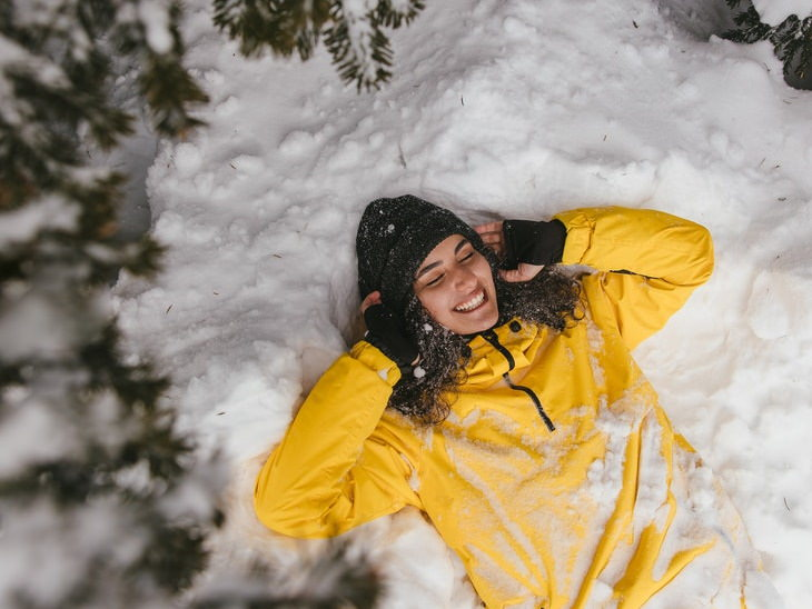 Essential Oils & the Immune System woman in the snow