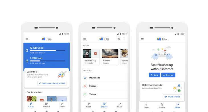 Phone Cleaner Apps, Files by Google