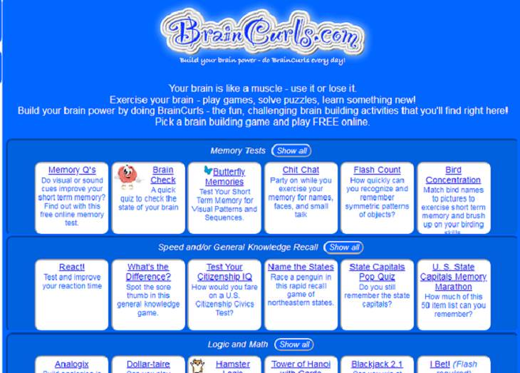 Senior-Friendly Games, BrainCurls