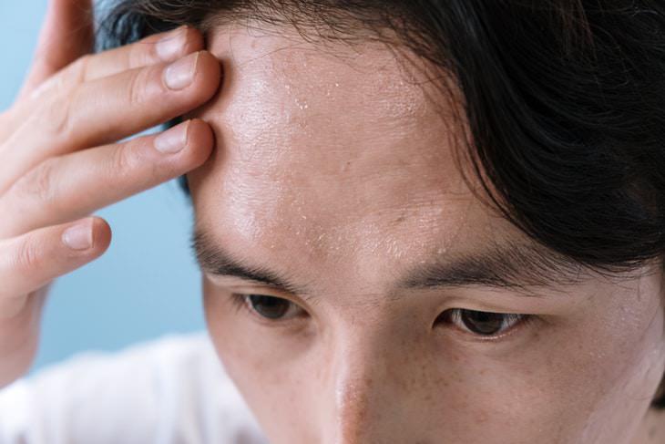 Cholesterol Myths man sweating