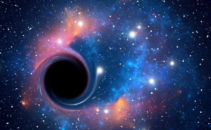 Einstein , ilustración de los agujeros negros