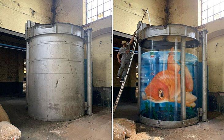 3D Graffiti Illusions, fish