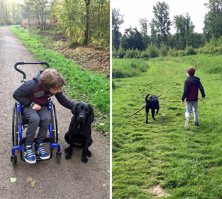 Adorable Friendships Between Kids & Their Dogs, support dogs