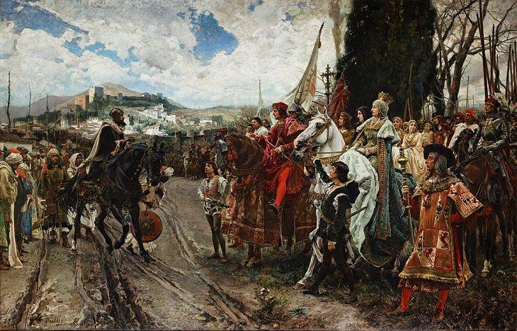 Francisco Pradilla Ortiz, surrender of Granada