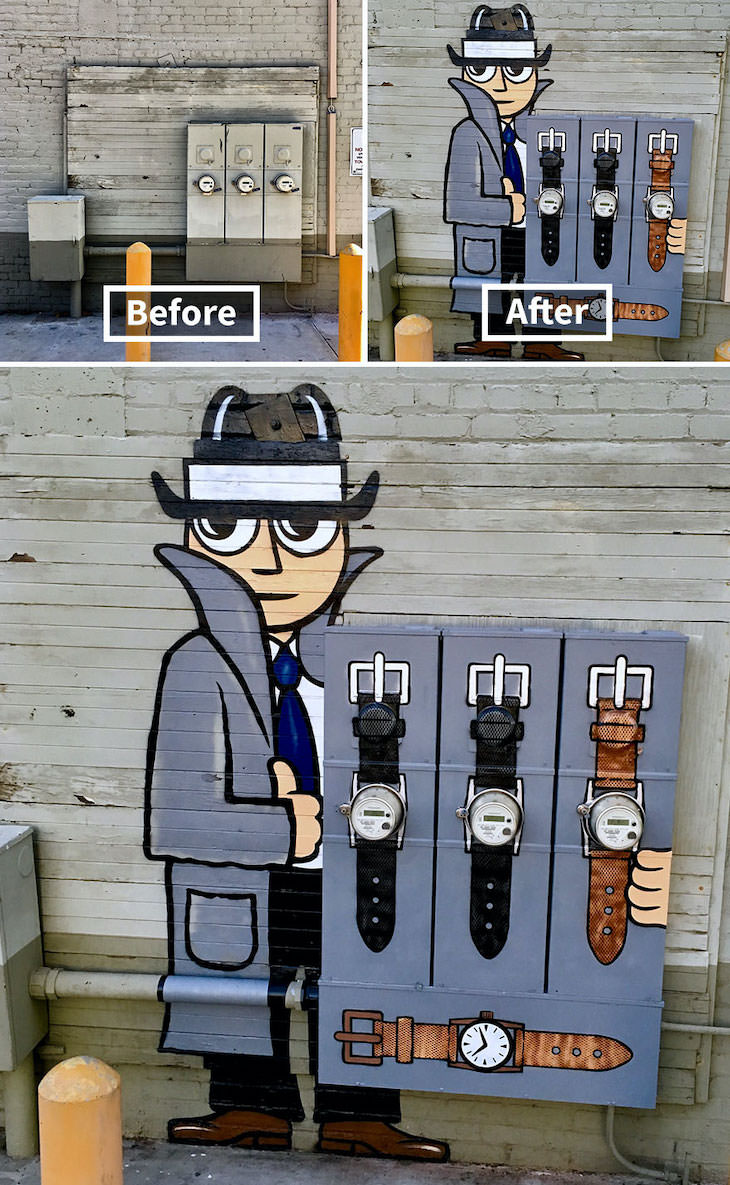 16 Clever and Funny Street Art Pieces by Tom Bob, Interested inbuying some time? (California)