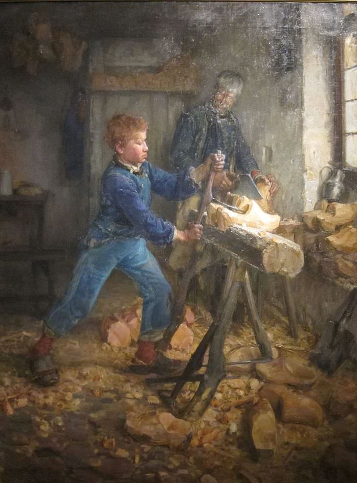 Remarkable Life and Art of Henry Ossawa Tanner, The Young Sabot Maker, 1895