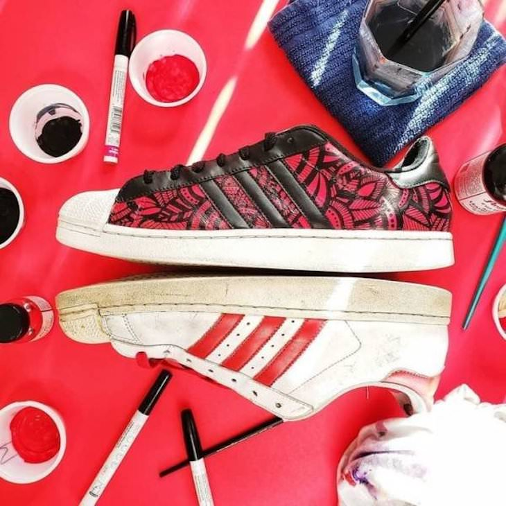 Before & After: DIY Makeovers of 14 Old Items, sneakers