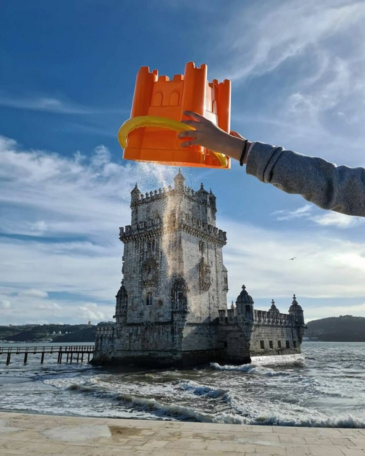 Forced Perspective Photography, castle