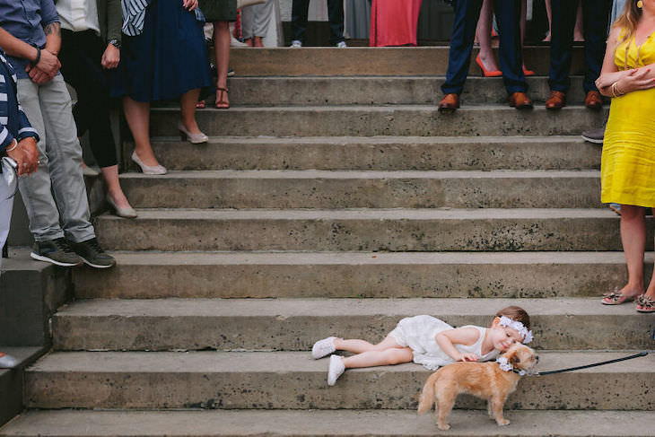 Cutest Contest: Best Dog In a Wedding Photo 2021, kid and dog at wedding