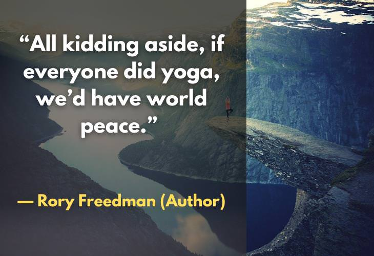 Yoga Quotes, peace