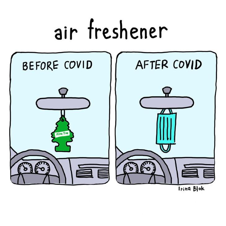 Irina Blok Covid-19 Illustrations air freshener