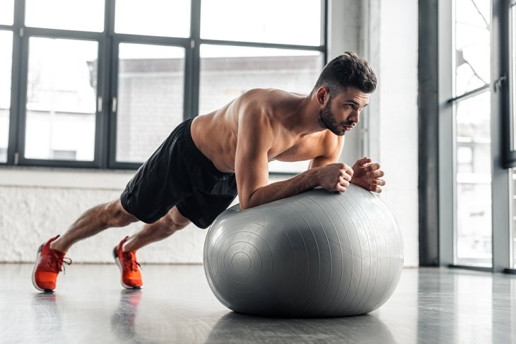 Stability Ball Exercises, plank