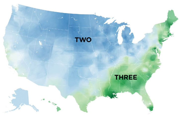 Maps of Regional Words in the USA caramel