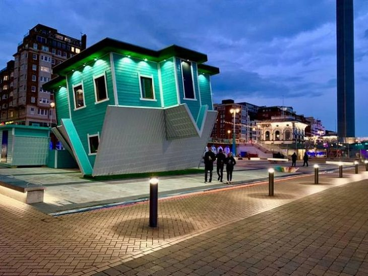 WEIRDEST Buildings, upside-down house