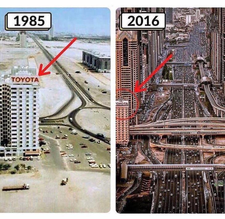 historical photo comparisons dubai