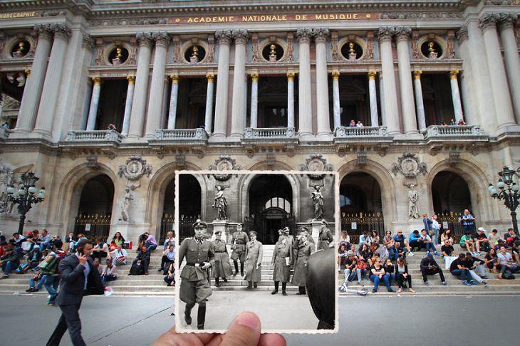 Then and Now: Paris, Place de l'Opéra