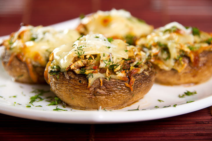 Recipe: Delicious Cheese & Herbs Stuffed Mushrooms stuffed mushrooms close up