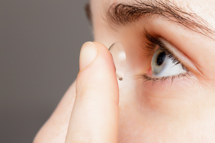 Why You Should NEVER Shower with Contact Lenses On putting lenses in