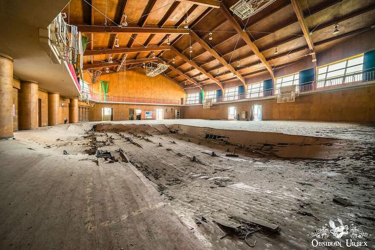 Fukushima Nuclear Disaster's Aftermath - 10 Photos school sports hall