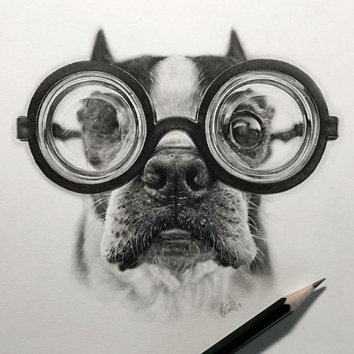 Hyper-Realistic Animal Sketches, pup