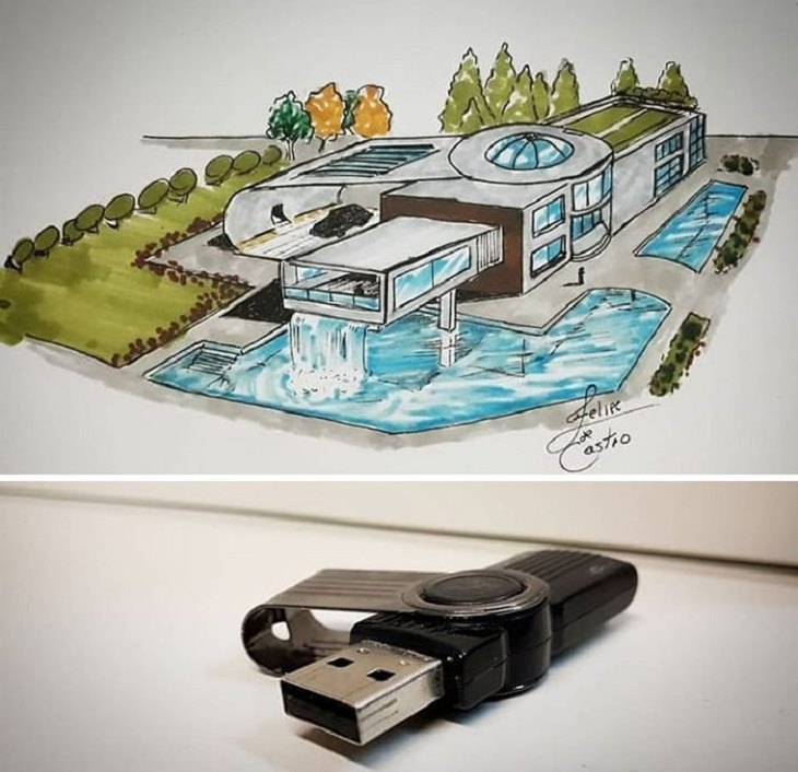 Buildings Inspired By Everyday Objects, pen drive